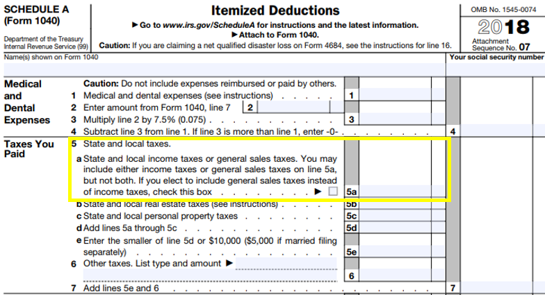 SALT Deduction – Should I Deduct My State and Local Income